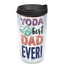 STAR WARS YODA BEST DAD 16OZ TUMBLER W/ BLACK LID