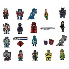 TRANSFORMERS VS GI JOE ENAMEL PIN DISPLAY