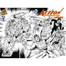 DF ACTION COMICS #1000 WRAPAROUND B&W EXC JURGENS