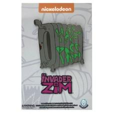 INVADER ZIM HALL PASS PIN