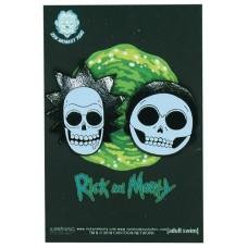 RICK AND MORTY X-RAY SKULLS 2 SET PINS