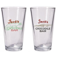 AMERICAN GODS JACKS CROCODILE BAR PINT GLASS SET