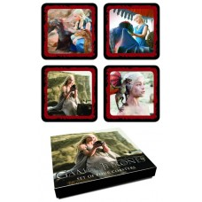 GAME OF THRONES COASTER SET DAENERYS TARGARYEN