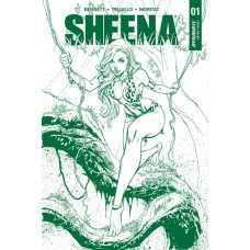 SHEENA #1 CAMPBELL JUNGLE GREEN PREMIUM ED