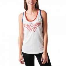 DC MOVIE WONDER WOMAN JRS WARRIOR WHITE TANK XL