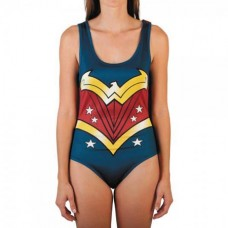 DC COMICS WONDER WOMAN JRS BODY-SUIT W/ CAPE LG