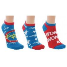 DC WONDER WOMAN 3PK ANKLE SOCKS