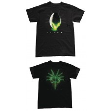 ALIEN EGG HIDDEN GID FACE HUGGER BLACK T/S LG