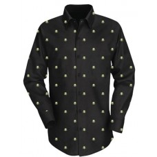 PREDATOR DARK WOVEN BUTTON UP SHIRT MED