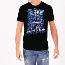 THEY LIVE COLLAGE BLACK T/S LG
