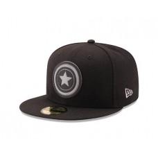 CAPTAIN AMERICA SHIELD HEXSHINE 5950 FITTED CAP 7 1/4