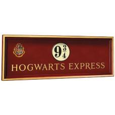 HP HOGWARTS EXPRESS PLATFORM 9 3/4 WOOD SIGN