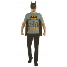 DC BATMAN T/S W/ MASK & CAPE MED