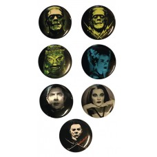 CLASSIC HORROR 1IN PIN 12PC ASSORTMENT