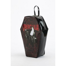 CLASSIC HORROR DRACULA COFFIN SHAPED BACKPACK