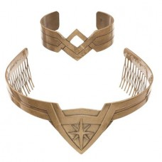 DC WONDER WOMAN MOVIE TIARA & BRACELET COSPLAY SET