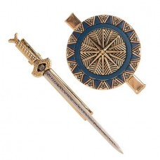 DC WONDER WOMAN MOVIE SWORD & SHIELD HAIR CLIP SET
