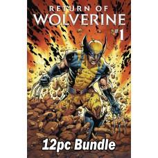 RETURN OF WOLVERINE #1 REG & VARIANT 12PC BUNDLE