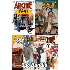 ARCHIE 1941 #1 CVR A B C D E 5PC BUNDLE