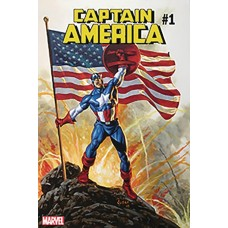 DF CAPTAIN AMERICA #1 SGN JUSKO GOLD SIG