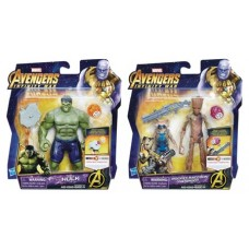 AVENGERS 6IN DLX AF W/INFINITY STONE ASST 201801