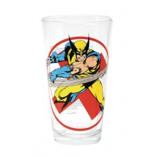 TOON TUMBLERS WOLVERINE CLASSIC CLEAR PINT GLASS