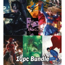 DC JULY PREVIEWS CARD STOCK VARIANT 10PC BUNDLE @A