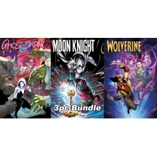 GHOST SPIDER MOON KNIGHT WOLVERINE ANNUAL REG CVR 3PC BUNDLE @A