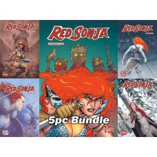 RED SONJA #8 CVR A B C D E 5PC BUNDLE @A