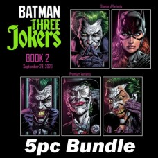 BATMAN THREE JOKERS #2 CVR A + CVR B + D E F PREMIUM VARIANT BUNDLE