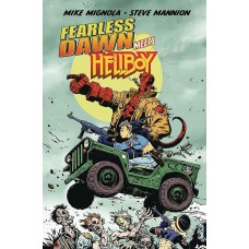 FEARLESS DAWN MEETS HELLBOY ONE SHOT MANNION CVR