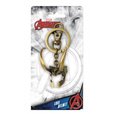 MARVEL LOKI 3D HELMET PEWTER KEY RING (C: 1-1-2)