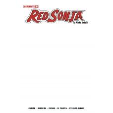 RED SONJA (2021) #1 CVR F BLANK AUTHENTIX