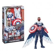 MARVEL TITAN HERO CAPTAIN AMERICA FALCON 12IN AF CS (Net) (C