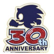 SONIC THE HEDGEHOG SONIC LOGO 30TH ANNIVERSARY LTD ED PIN (C