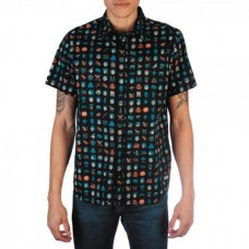 FALLOUT ICONS WOVEN BUTTON UP SHIRT MED