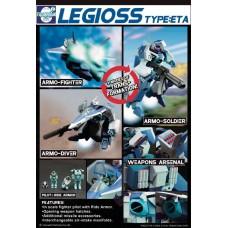 MOSPEADA LEGIOSS AFC-01H BLUE ETA TYPE ACTION FIGURE (Net)
