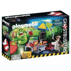 PLAYMOBIL GHOSTBUSTERS SLIMER W/ HOT DOG STAND PLAY-SET (Net