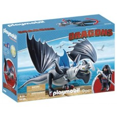 PLAYMOBIL HTTYD DRAGO & THUNDERCLAW PLAY-SET (Net)