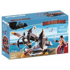 PLAYMOBIL HTTYD ERET W/ 4 SHOT FIRE BALLISTA PLAY-SET (Net)