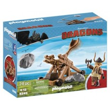 PLAYMOBIL HTTYD GOBBER W/ CATAPULT PLAY-SET (Net)