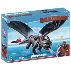 PLAYMOBIL HTTYD HICCUP & TOOTHLESS PLAY-SET (Net)