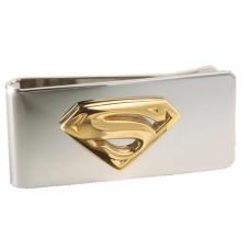 DC SUPERMAN RETURNS STEEL & 24K GOLD PLATING MONEY CLIP (Net