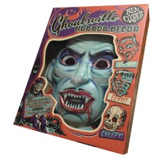 GHOULSVILLE BLOOD OF DRACULA VAC-TASTIC PLASTIC MASK