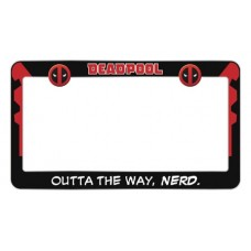 DEADPOOL NERD METAL LICENSE PLATE FRAME