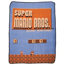 NINTENDO SUPER MARIO BROS THROW BLANKET