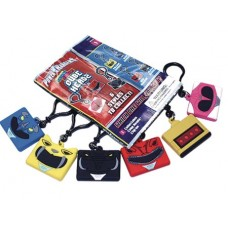 KAWAII CUBES POWER RANGERS CUBE HEADZ KEYRING 36PC BMB DS