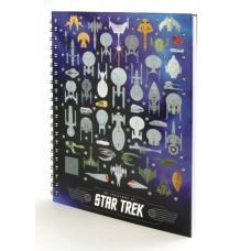STAR TREK SPACECRAFTS HARDCOVER NOTEBOOK