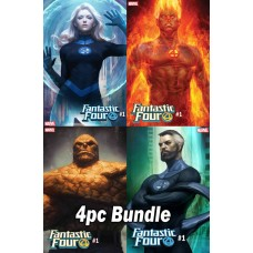 FANTASTIC FOUR #1 ARTGERM VARIANT 4 PC SET BUNDLE