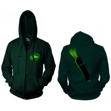 GREEN ARROW SYMBOL ZIP HOODIE SM